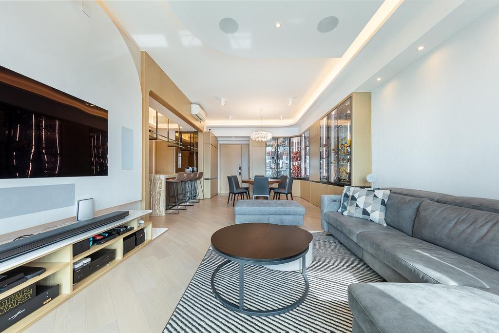 摩登, 私家樓, 客廳, 匯璽, 室內設計師, am PLUS
