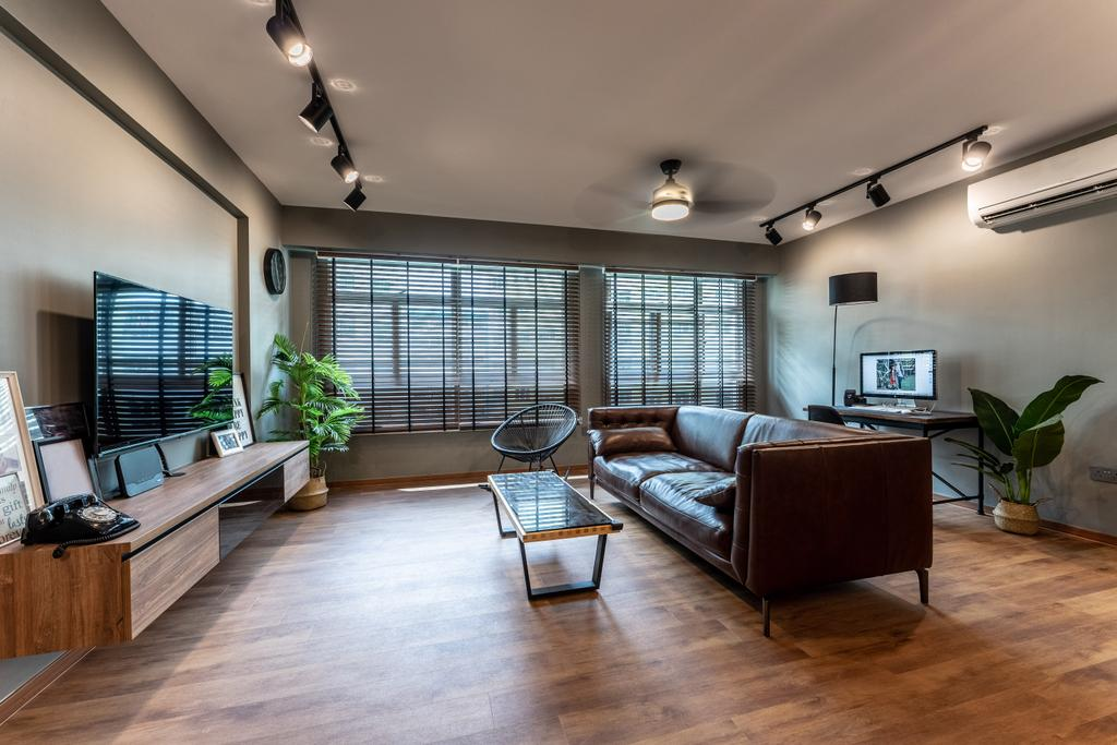 Contemporary, HDB, Living Room, Yishun Avenue 1, Interior Designer, Luova Project Services