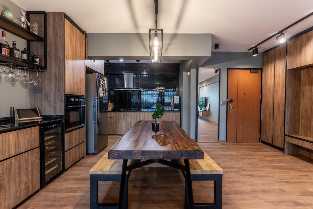 Contemporary, HDB, Kitchen, Yishun Avenue 1, Interior Designer, Luova Project Services
