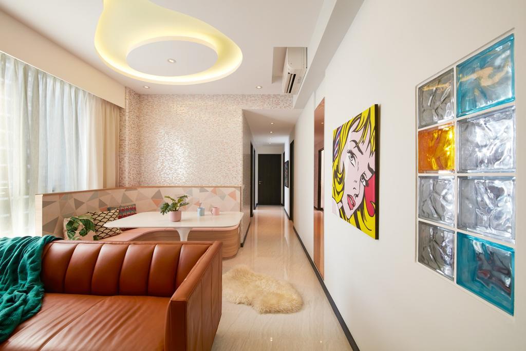 Contemporary, Condo, Living Room, Gem Residences, Interior Designer, Free Space Intent