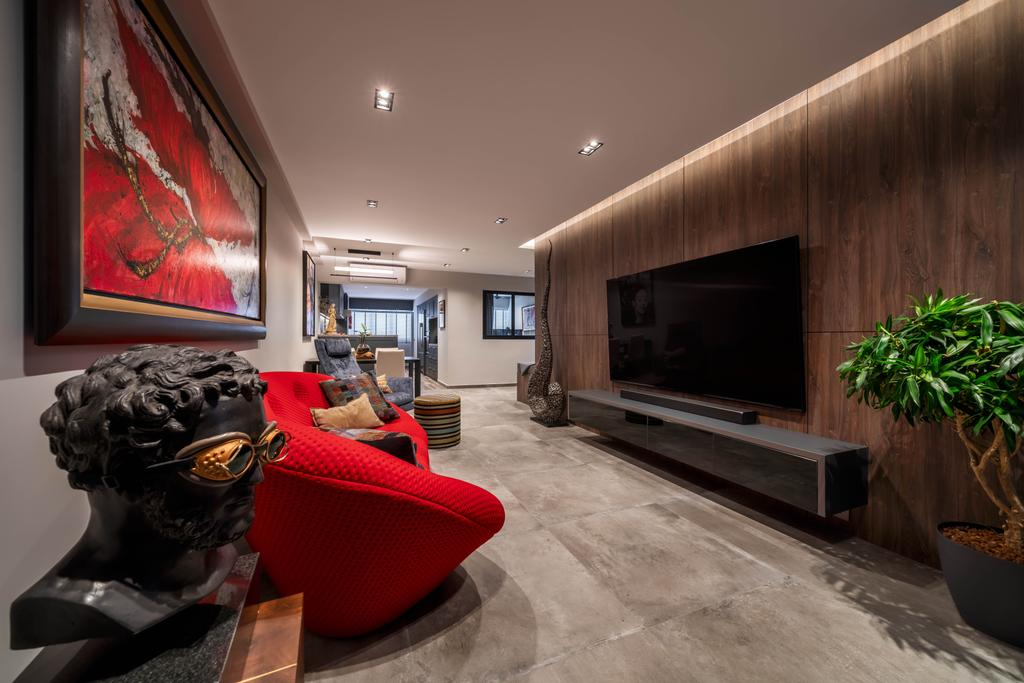 Contemporary, HDB, Living Room, Bukit Purmei, Interior Designer, Zenith Arc