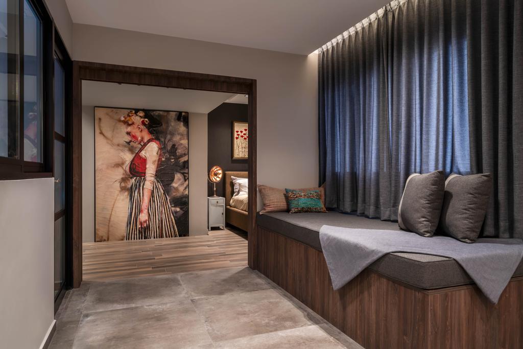 Contemporary, HDB, Bedroom, Bukit Purmei, Interior Designer, Zenith Arc, Window Seat, Settee
