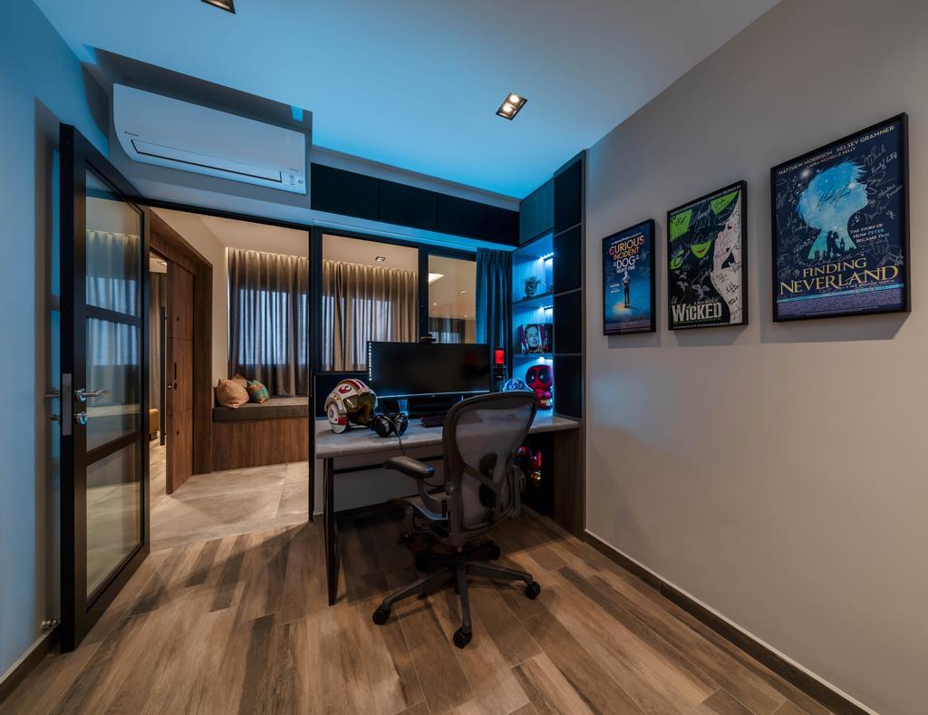 Contemporary, HDB, Study, Bukit Purmei, Interior Designer, Zenith Arc