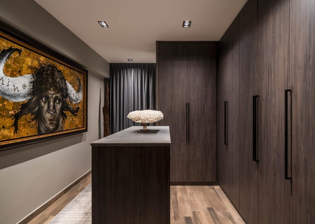 Contemporary, HDB, Bedroom, Bukit Purmei, Interior Designer, Zenith Arc, Walk In Wardrobe, Wardrobe, Accessory Island