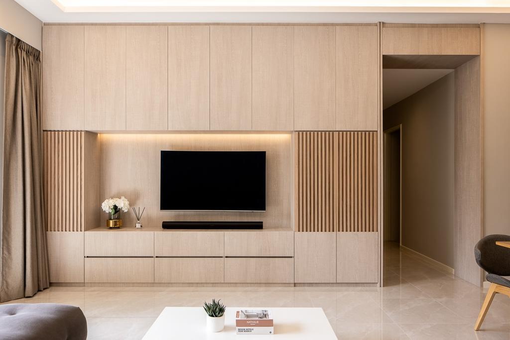 Contemporary, HDB, Living Room, Dover Parkview, Interior Designer, Anhans Interior Design