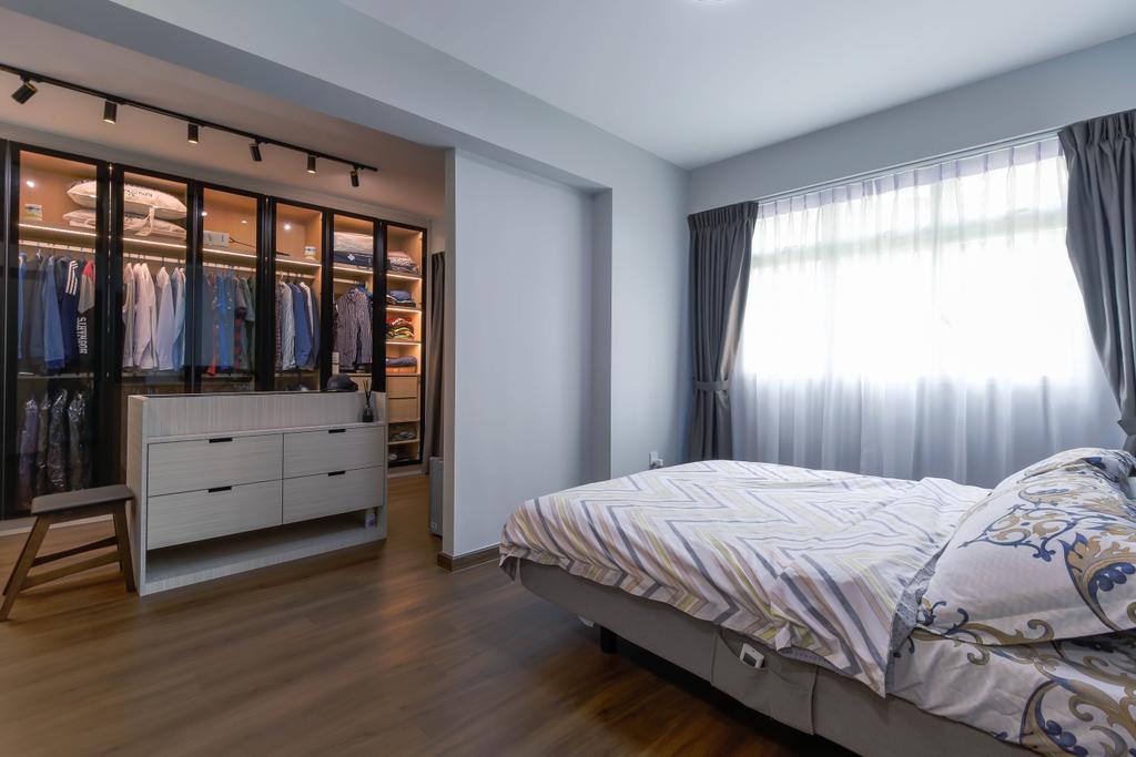 Modern, HDB, Bedroom, Yishun, Interior Designer, Project Guru, Contemporary