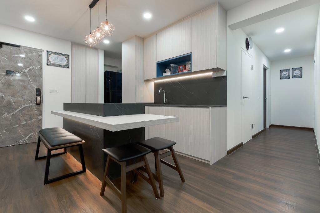 Modern, HDB, Dining Room, Yishun, Interior Designer, Project Guru, Contemporary