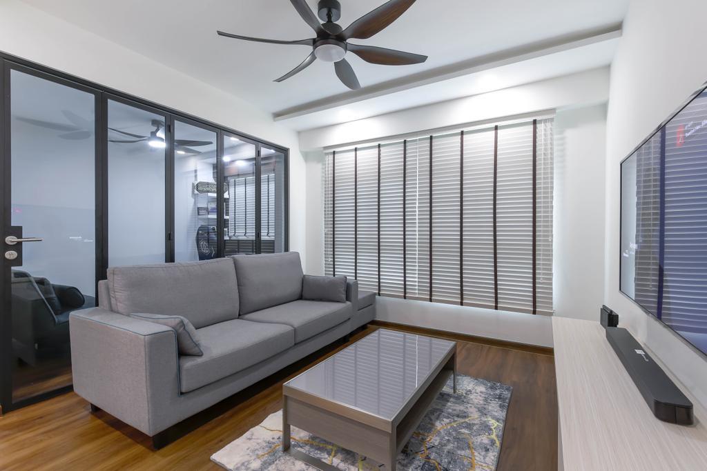 Modern, HDB, Living Room, Yishun, Interior Designer, Project Guru, Contemporary