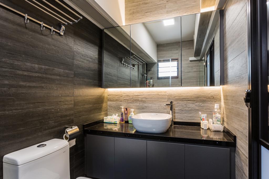 Modern, HDB, Bathroom, Redhill, Interior Designer, Ataz Haus Interior Design, Contemporary