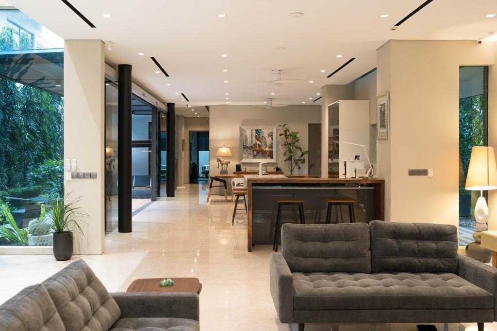Modern, Landed, Living Room, Mountbatten, Interior Designer, Toke & Chen