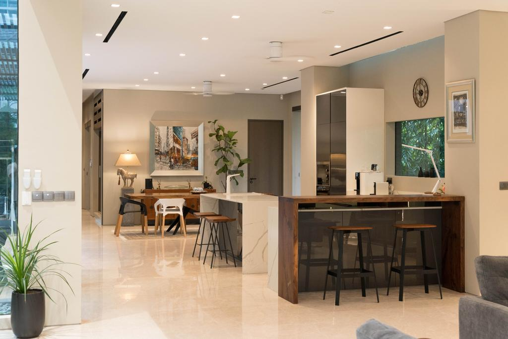 Modern, Landed, Dining Room, Mountbatten, Interior Designer, Toke & Chen