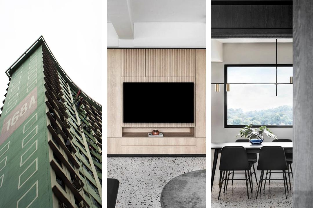 A Sleek Bachelor Pad in Queensway's Iconic 'Butterfly Block'