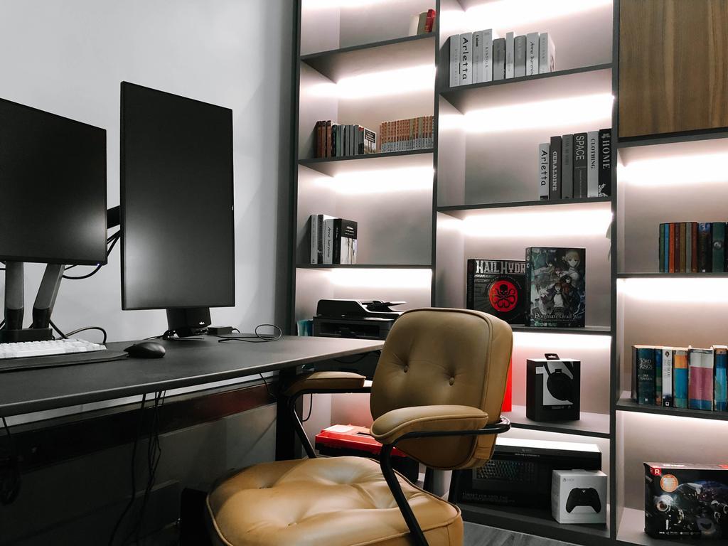Contemporary, Condo, Study, The Crest, Interior Designer, Posh Home, Modern