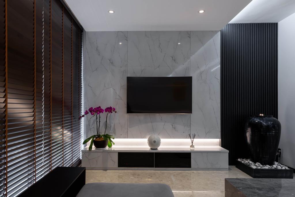 Modern, Condo, Living Room, The Florida, Interior Designer, Archiwu Interior, Contemporary