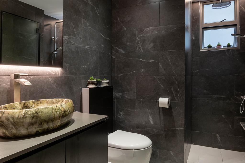 Modern, Condo, Bathroom, The Florida, Interior Designer, Archiwu Interior, Contemporary