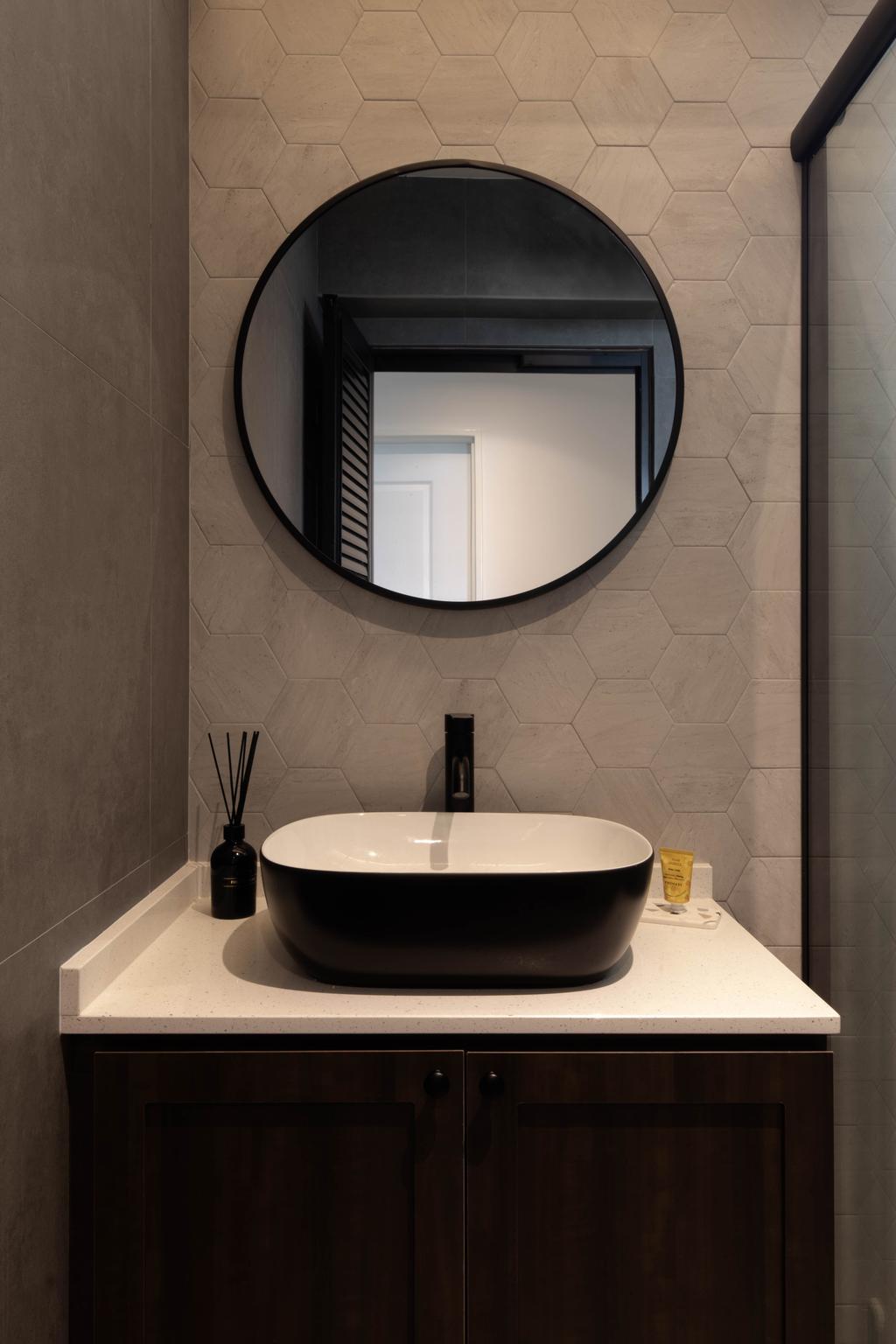 Modern, HDB, Bathroom, Bedok North Road, Interior Designer, Fifth Avenue Interior