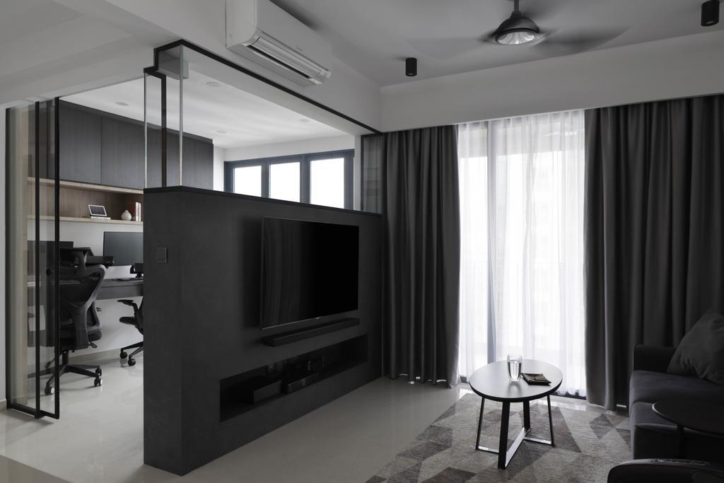 Contemporary, Condo, Living Room, Hundred Palms Residences, Interior Designer, Fifth Avenue Interior