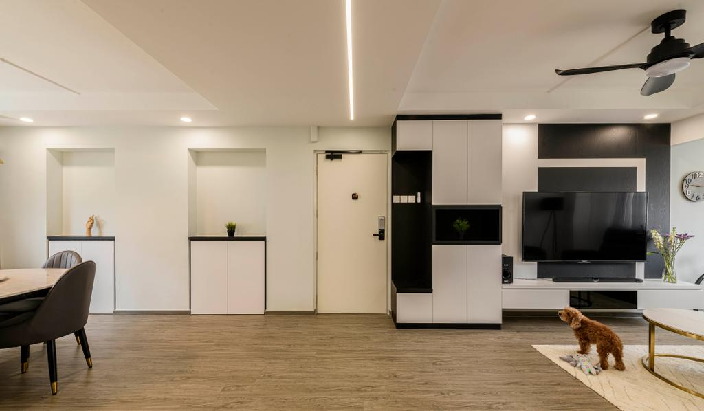 Modern, HDB, Living Room, Pasir Ris Street 21, Interior Designer, Glamour Concept, Contemporary