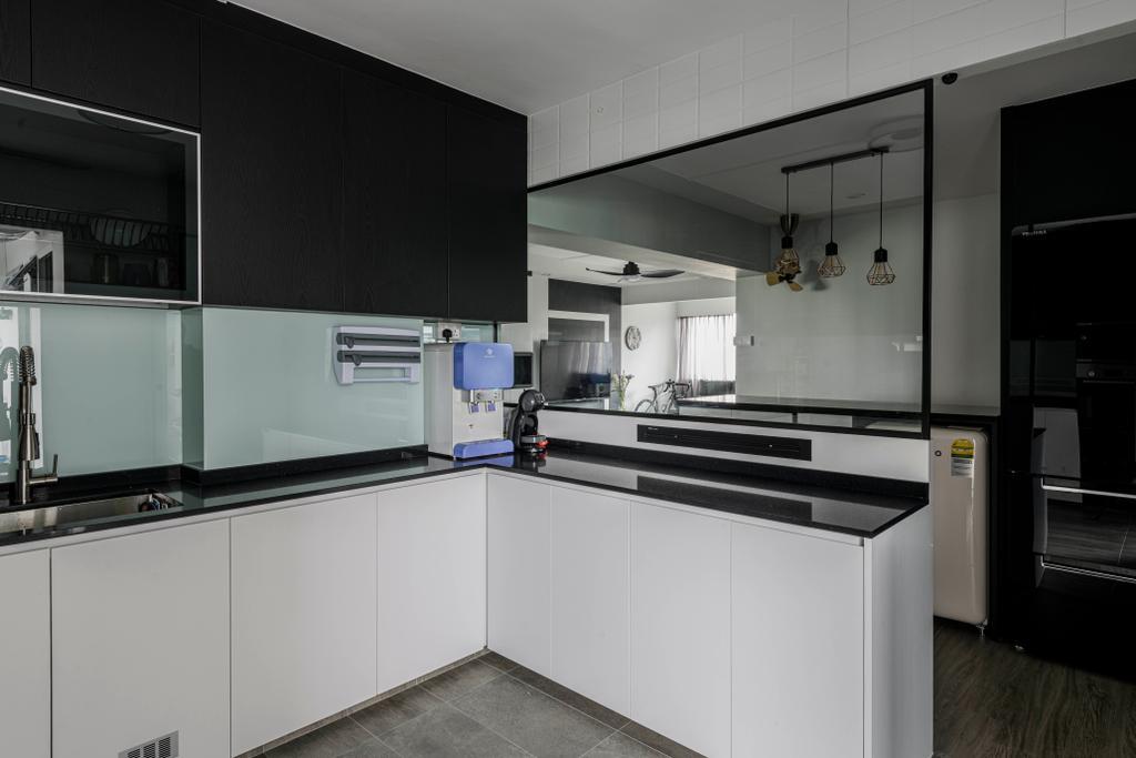 Modern, HDB, Kitchen, Pasir Ris Street 21, Interior Designer, Glamour Concept, Contemporary