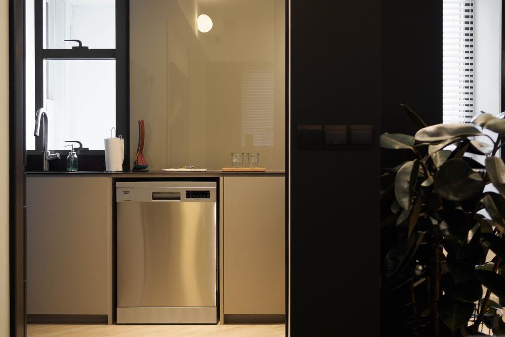 Contemporary, Condo, Kitchen, Cityscape @ Farrer Park, Interior Designer, Habit