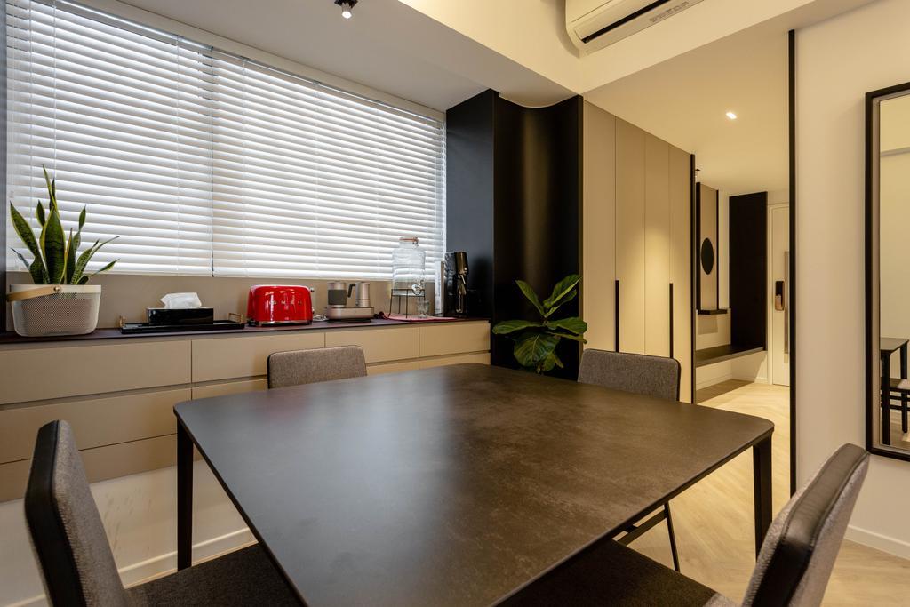 Contemporary, Condo, Dining Room, Cityscape @ Farrer Park, Interior Designer, Habit