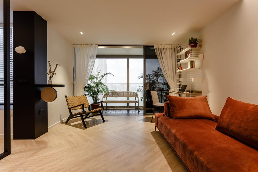 Contemporary, Condo, Living Room, Cityscape @ Farrer Park, Interior Designer, Habit