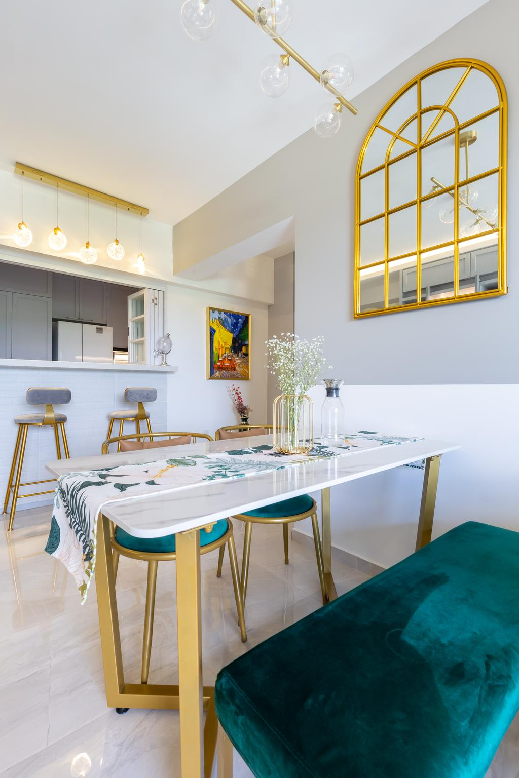 Modern, HDB, Dining Room, Alkaff Crescent, Interior Designer, INCLOVER DESIGN, Contemporary