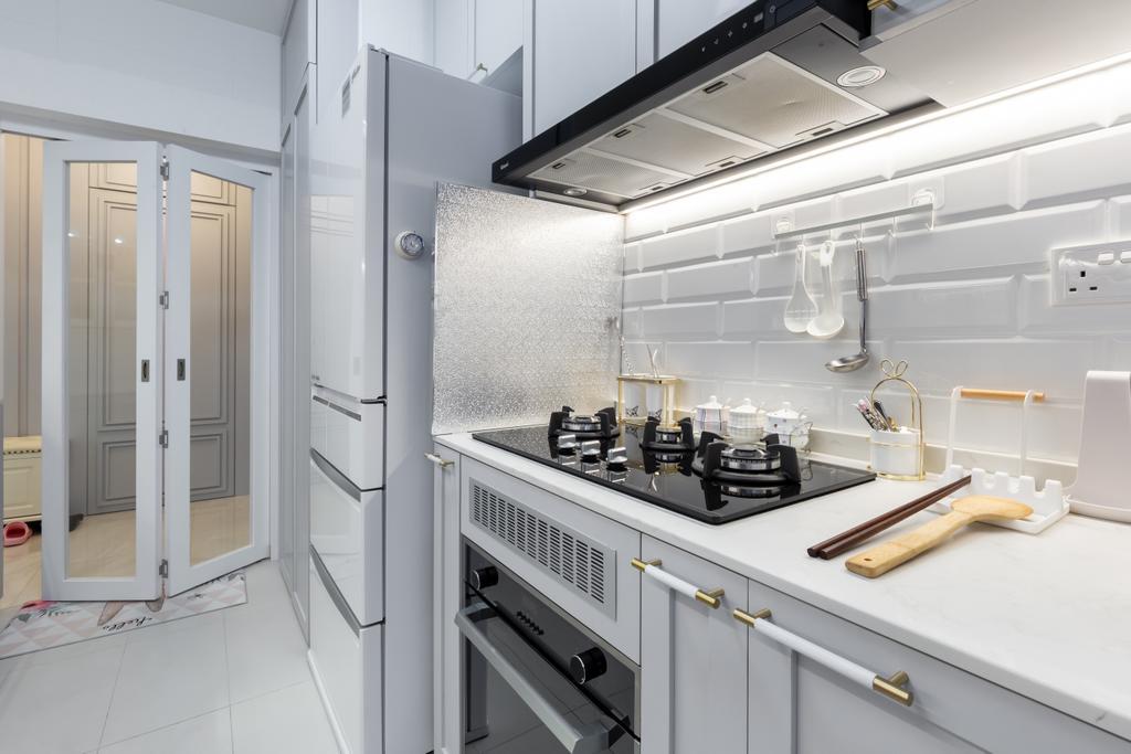 Modern, HDB, Kitchen, Alkaff Crescent, Interior Designer, INCLOVER DESIGN, Contemporary