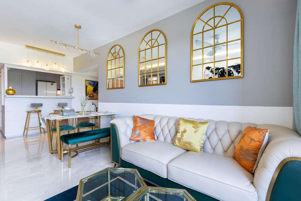 Modern, HDB, Living Room, Alkaff Crescent, Interior Designer, INCLOVER DESIGN, Contemporary