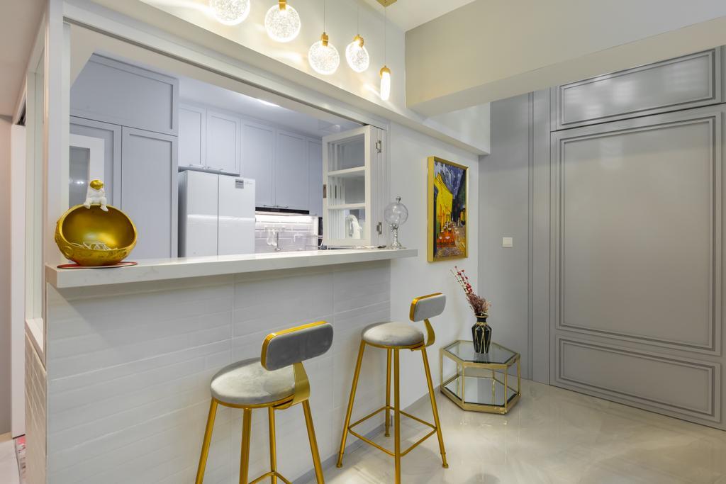 Modern, HDB, Dining Room, Alkaff Crescent, Interior Designer, INCLOVER DESIGN, Contemporary