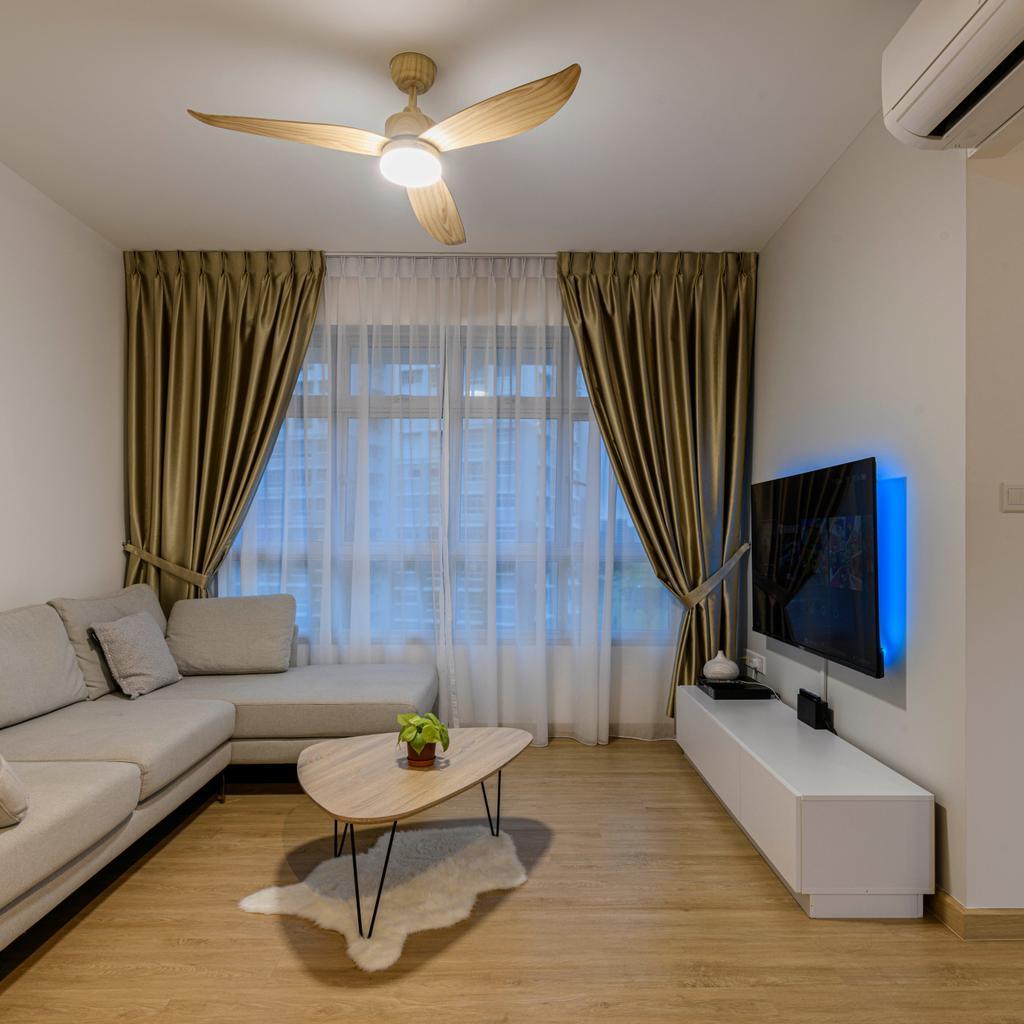 Contemporary, HDB, Living Room, Canberra Street, Interior Designer, Project Guru