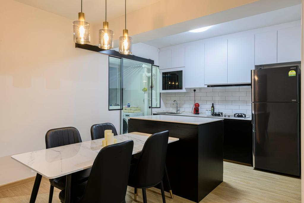 Contemporary, HDB, Dining Room, Canberra Street, Interior Designer, Project Guru
