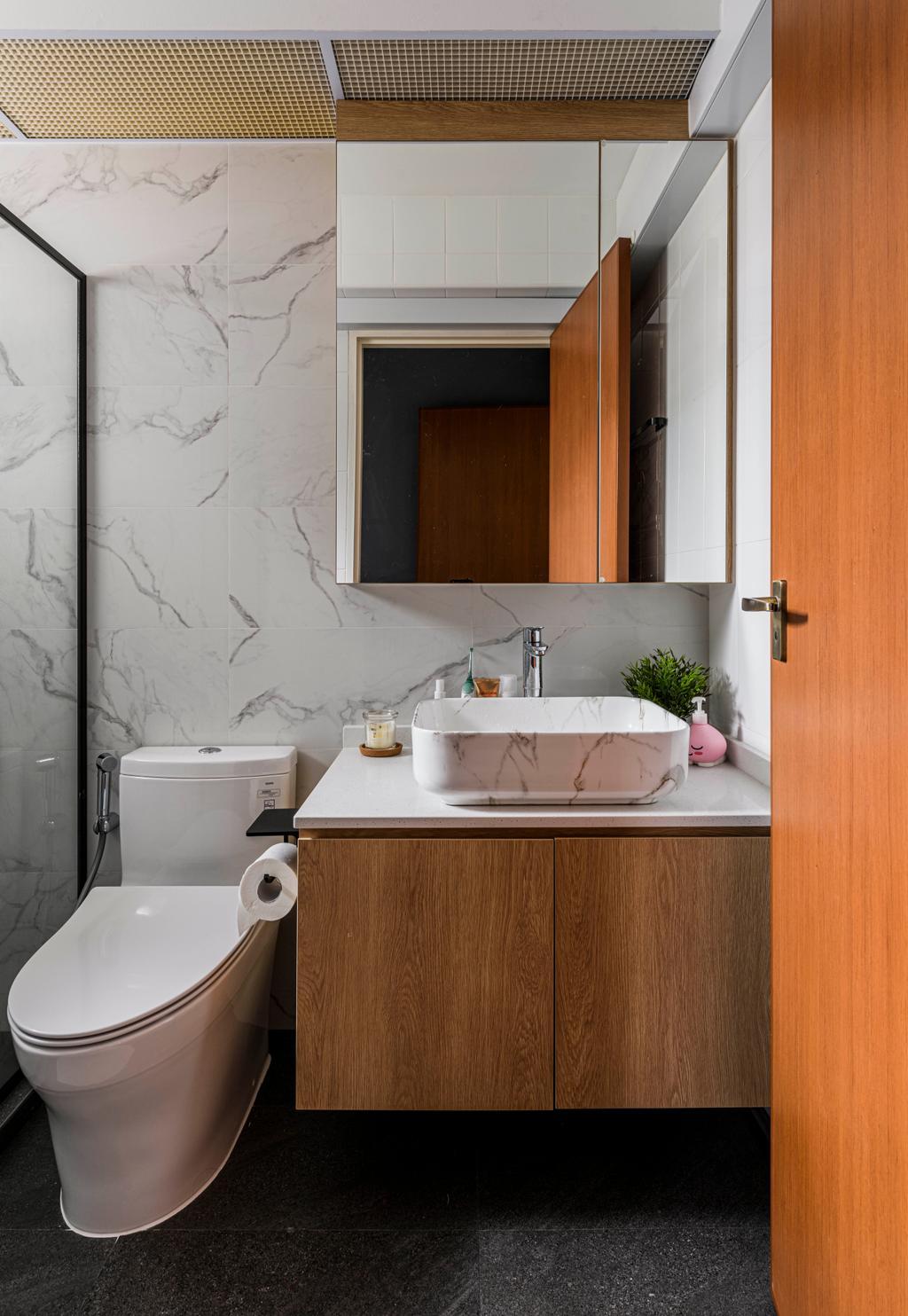 Scandinavian, HDB, Bathroom, Bedok North, Interior Designer, Project Guru, Contemporary