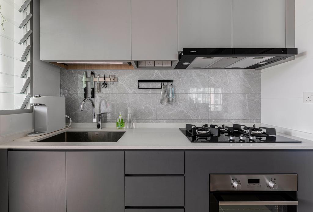 Scandinavian, HDB, Kitchen, Bedok North, Interior Designer, Project Guru, Contemporary