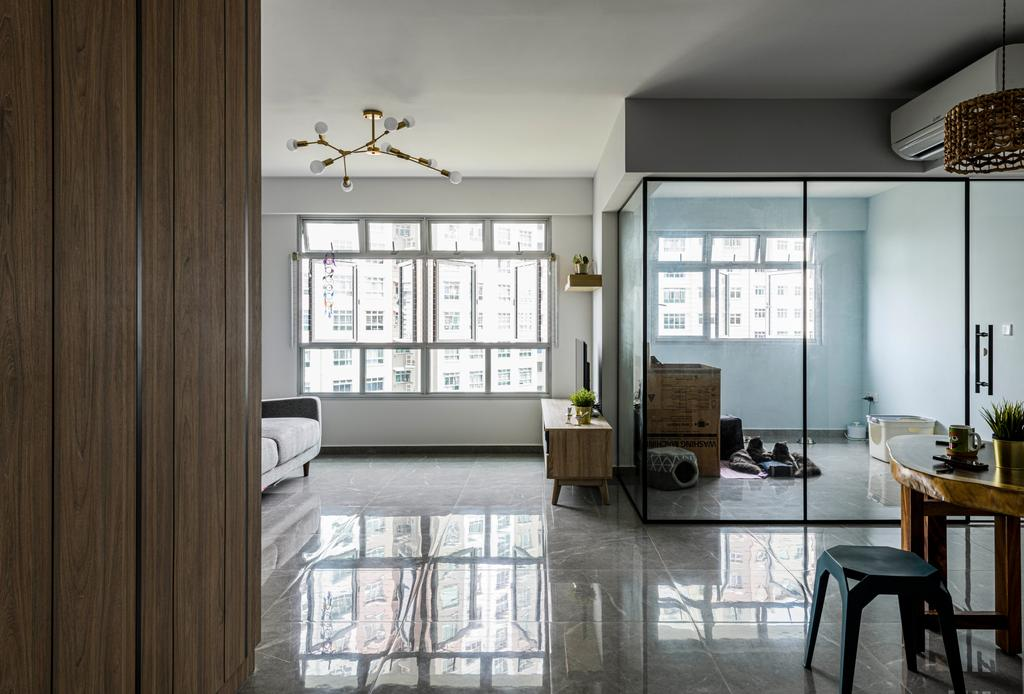 Scandinavian, HDB, Living Room, Bedok North, Interior Designer, Project Guru, Contemporary