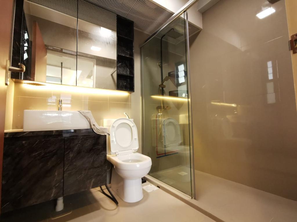 Contemporary, HDB, Bathroom, Tampines Street 61, Interior Designer, oddcreative