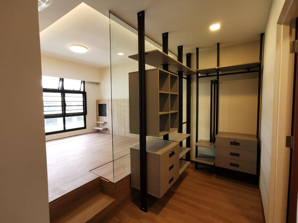 Contemporary, HDB, Bedroom, Tampines Street 61, Interior Designer, oddcreative