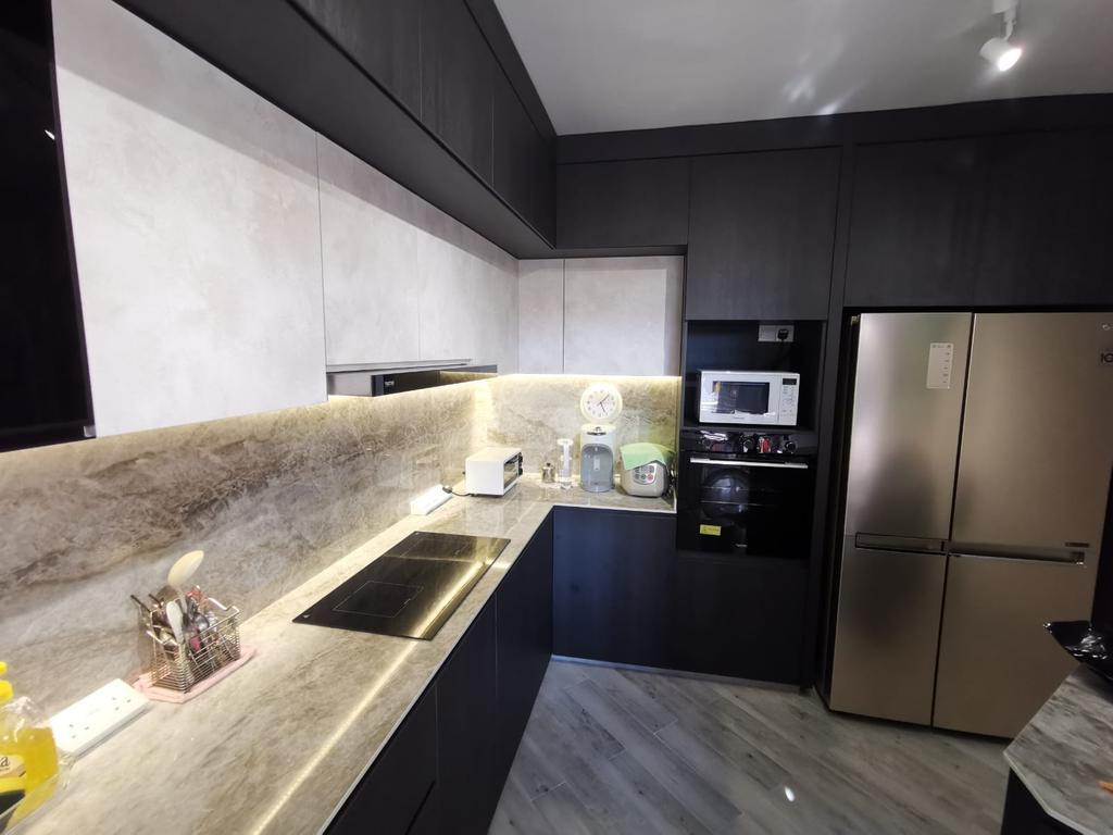 Modern, HDB, Kitchen, Compassvale Road, Interior Designer, oddcreative, Contemporary