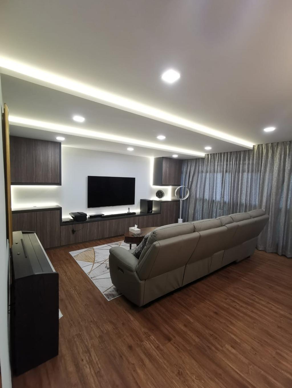 Modern, HDB, Living Room, Compassvale Road, Interior Designer, oddcreative, Contemporary
