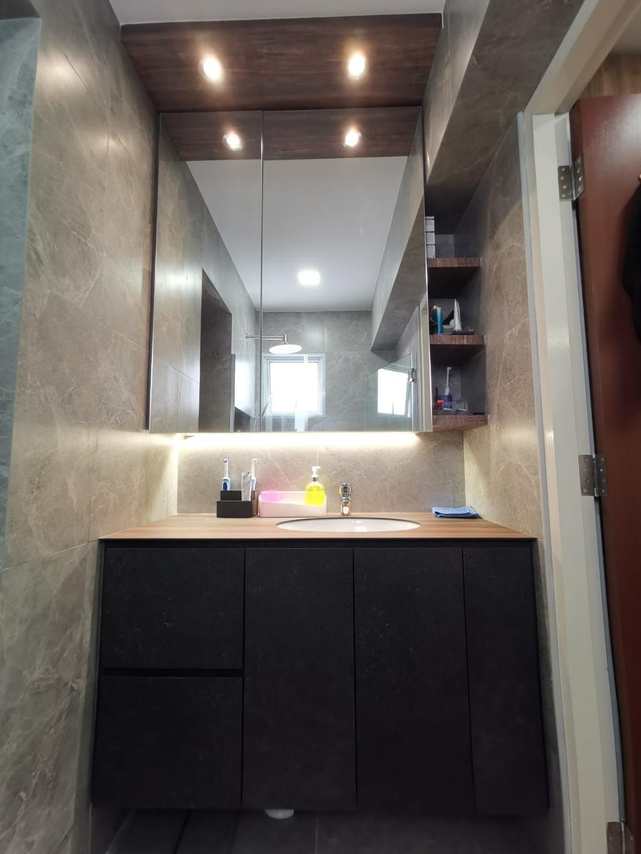 Modern, HDB, Bathroom, Compassvale Road, Interior Designer, oddcreative, Contemporary