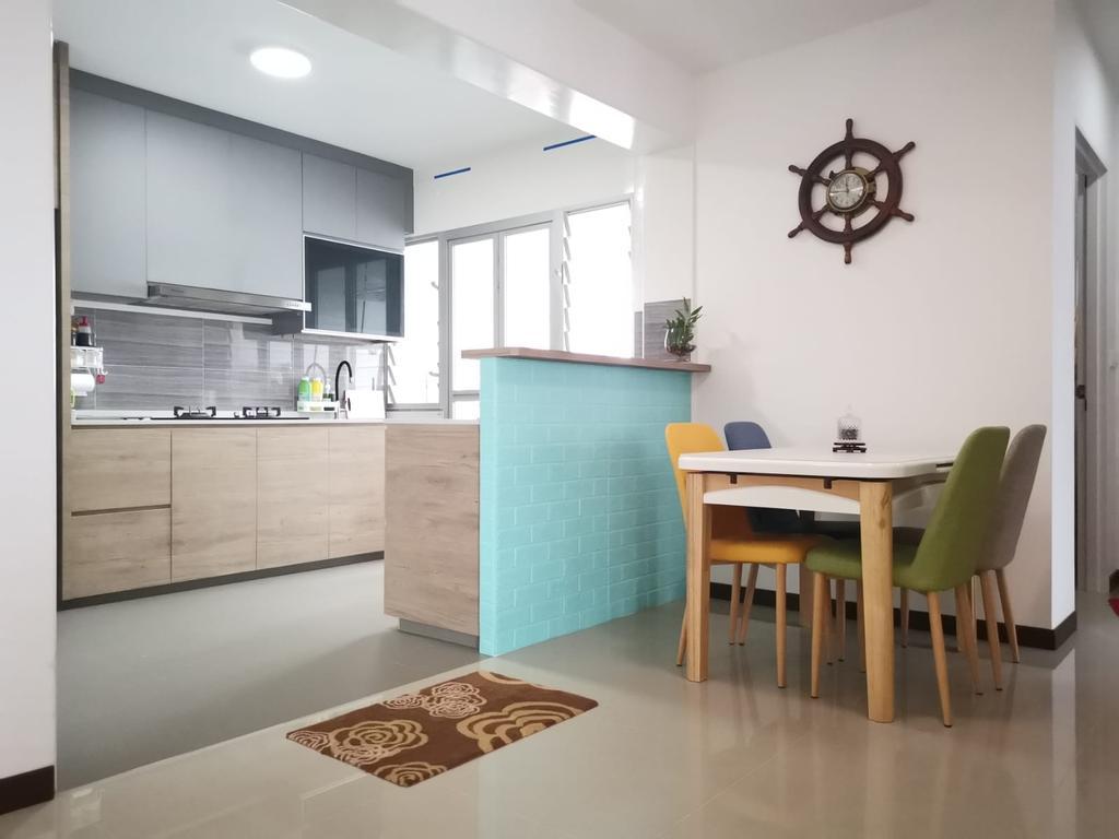 Modern, HDB, Kitchen, Woodlands Street 13, Interior Designer, oddcreative, Scandinavian
