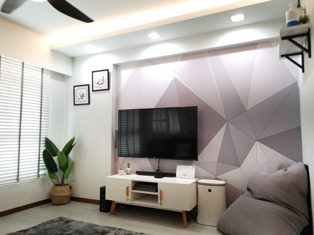 Modern, HDB, Living Room, Bukit Batok West Avenue 9, Interior Designer, oddcreative, Scandinavian