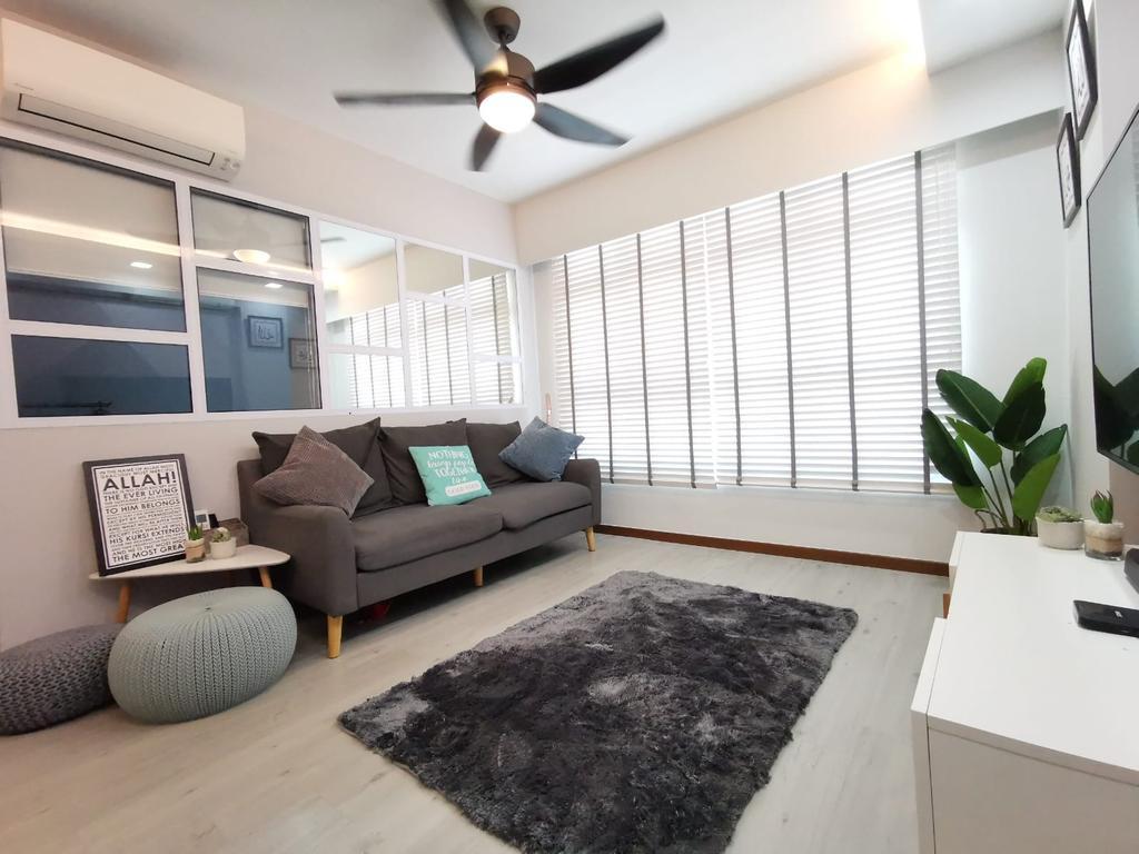 Modern, HDB, Living Room, Bukit Batok West Avenue 9, Interior Designer, oddcreative, Scandinavian