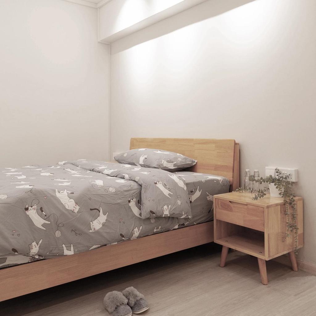 Scandinavian, HDB, Bedroom, Bishan Street 22, Interior Designer, Orange Interior