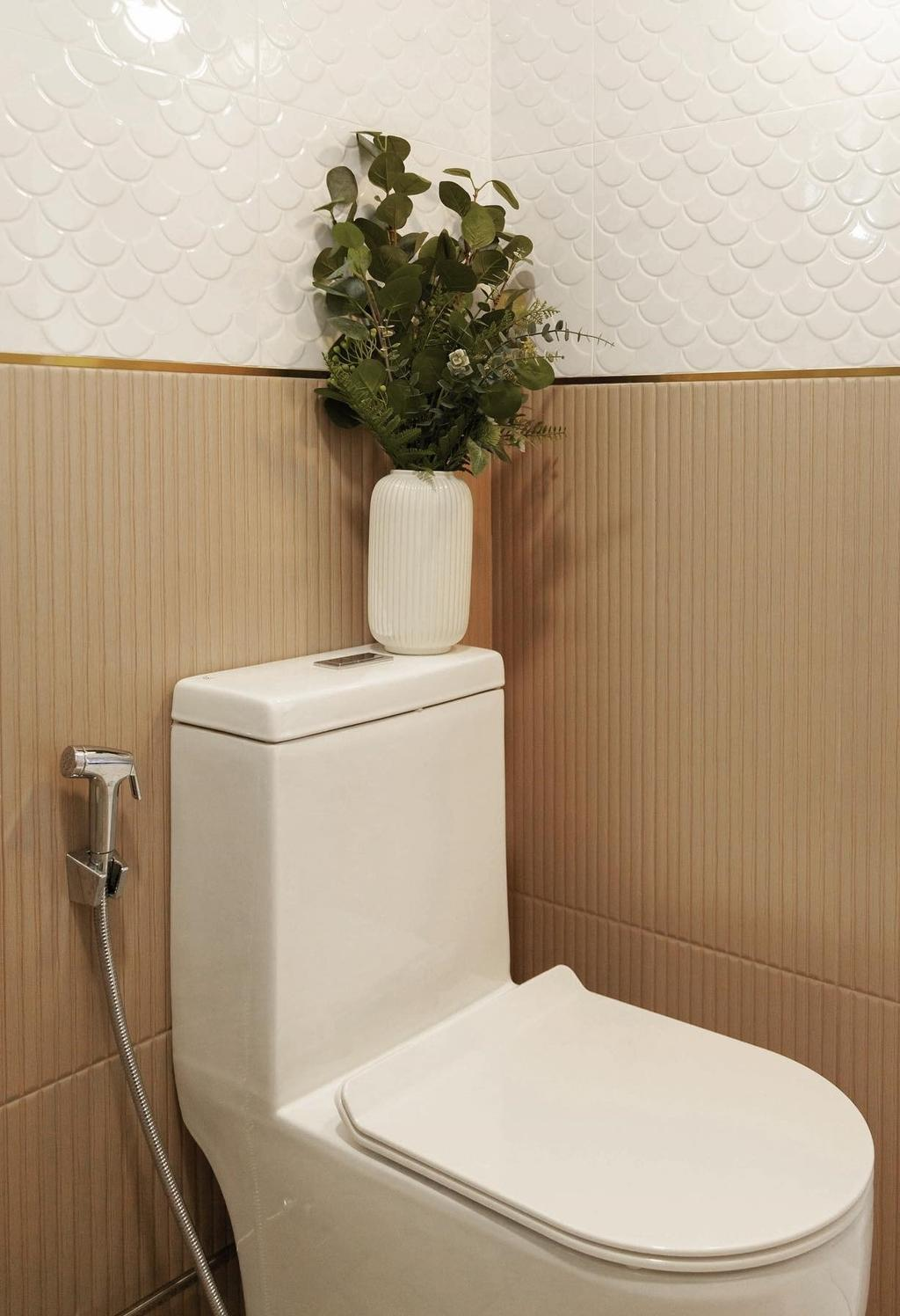 Scandinavian, HDB, Bathroom, Bishan Street 22, Interior Designer, Orange Interior
