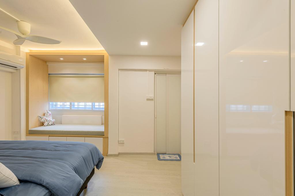 Modern, HDB, Bedroom, Jurong East Street 32, Interior Designer, Design Identity, Minimalistic