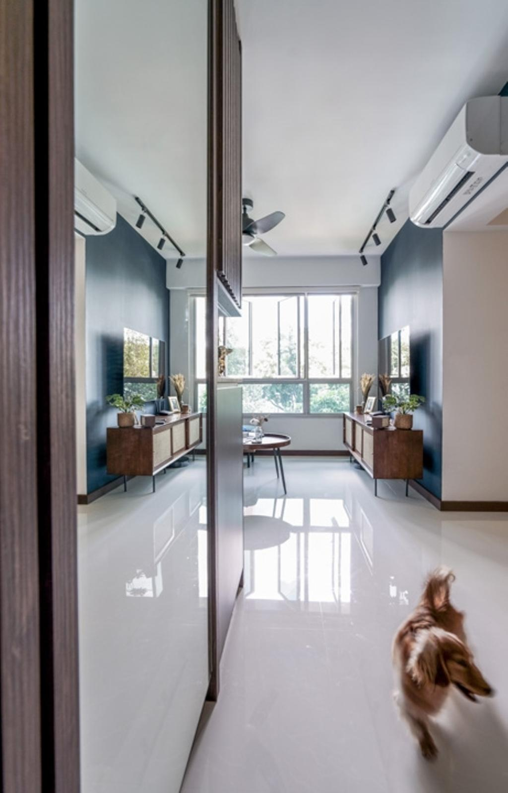 Contemporary, HDB, Living Room, Bedok North Woods, Interior Designer, Couple Abode, Scandinavian