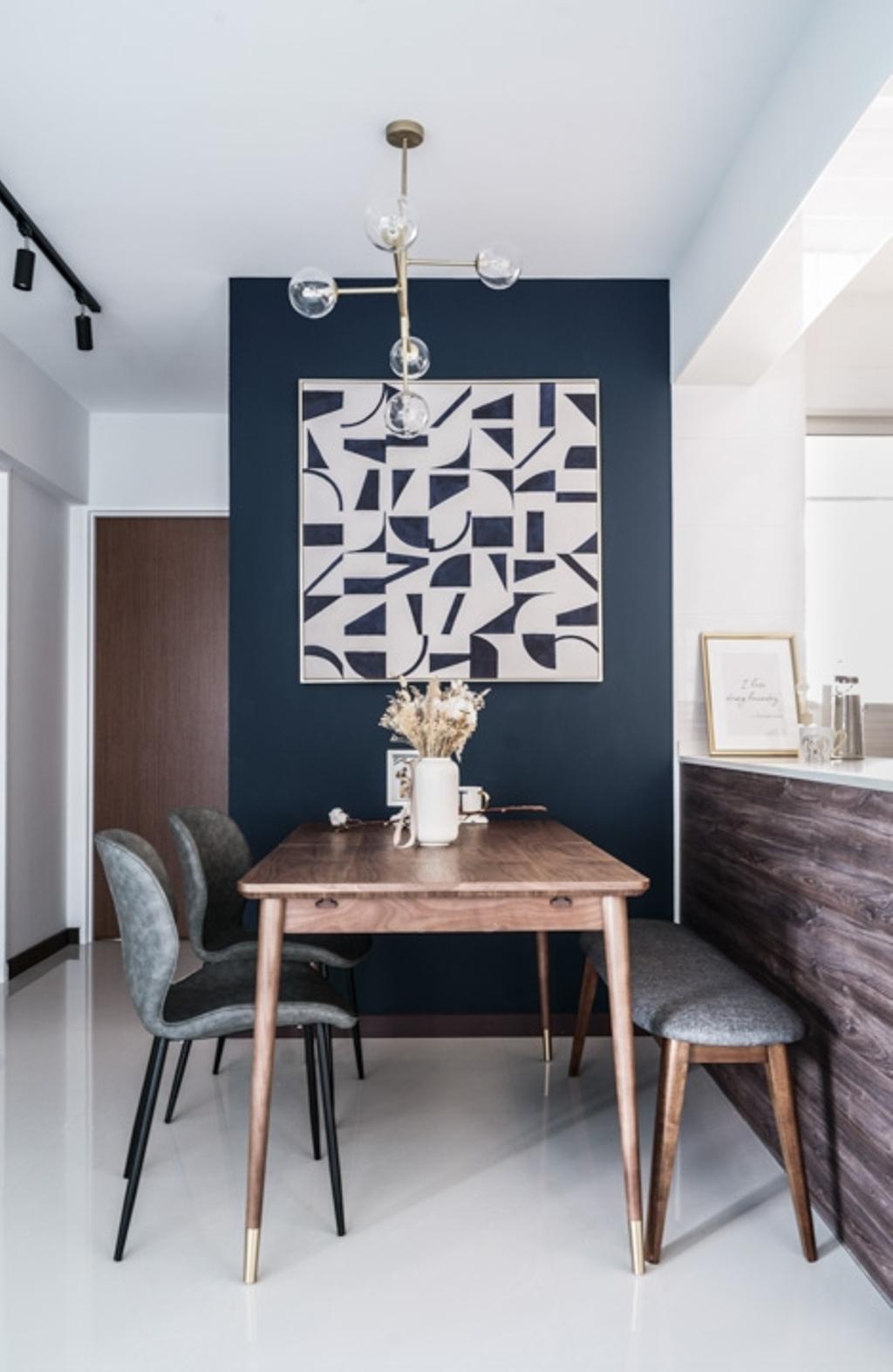 Contemporary, HDB, Dining Room, Bedok North Woods, Interior Designer, Couple Abode, Scandinavian