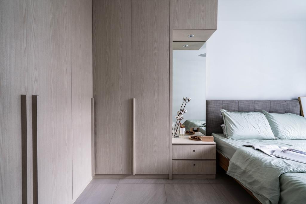Scandinavian, HDB, Bedroom, Tampines GreenView, Interior Designer, Couple Abode