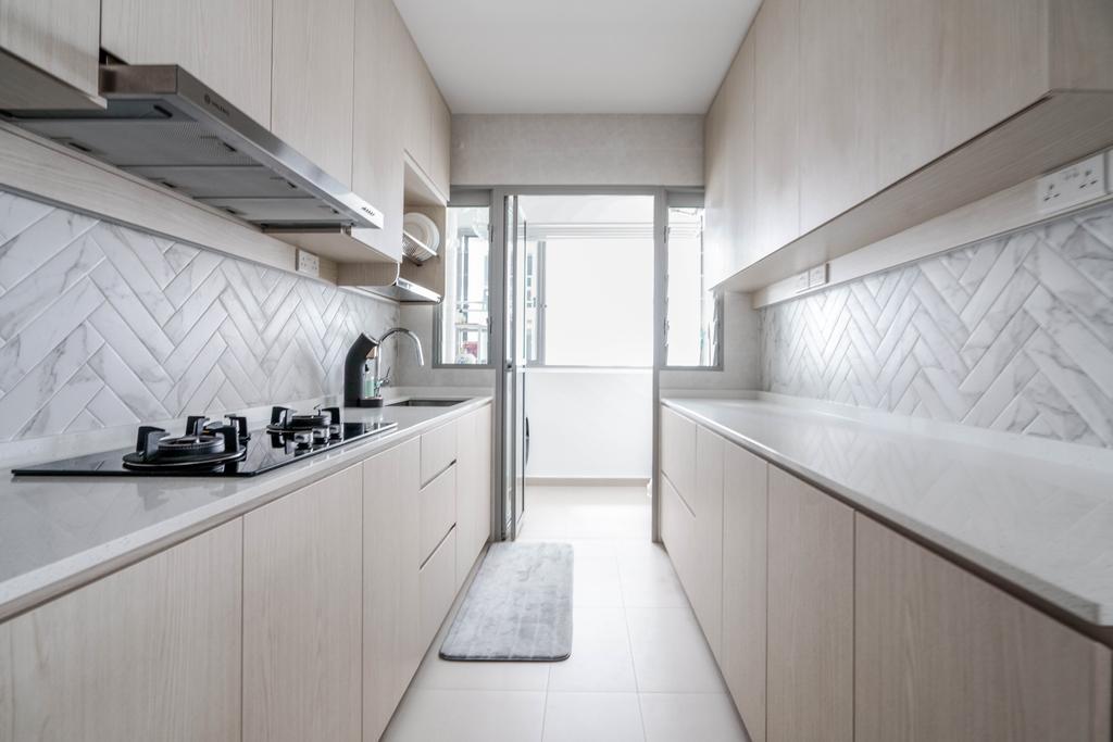 Scandinavian, HDB, Kitchen, Tampines GreenView, Interior Designer, Couple Abode